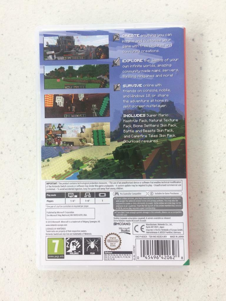Minecraft Nintendo Switch Game | in Barnsley, South Yorkshire | Gumtree