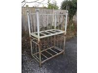 2 stillages storage wood store shed garage racking bench hutch upcycle free local delivery