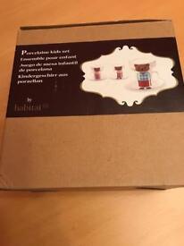 Habitat Porcelain Children's Set New in Box Collectors Item