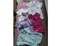 Bundle of Summer Clothes for Girl 11-12 years, t-shirts pyjamas skort swimwear, in VGC