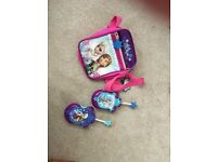 Frozen walky talkies & bag