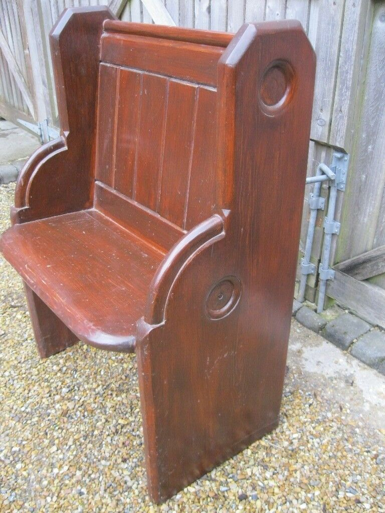 Small Old Church Pew Delivery Possible Longer Victorian