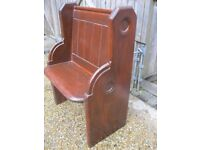 SMALL OLD CHURCH PEW. Delivery possible. LONGER VICTORIAN PINE BENCHES & PEWS FOR SALE.