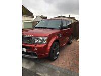 Range Rover sport Hst v8 Rimini red