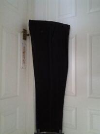 Mens black evening trousers. Waist 40 length 29
