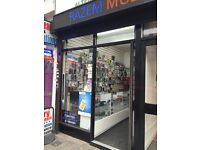 Mobile shop for rent £750 pcm including bils for more info call 07440097745