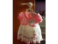 X2 Dresses with matching headband and knickers 12/18 months brand new with labels