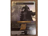 Final Fantasy Gabranth Limited Edition Card