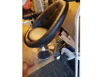 Leather look egg chair