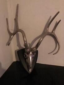 Chrome mounted stag
