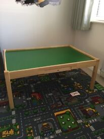 Pin Furniture wooden play table with storage trundles
