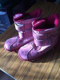 Pink snow boots size 8