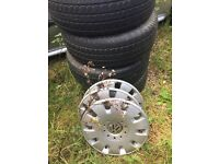 VW Transporter wheels and tyres, removed from a 2005, tyres nearly new !