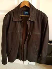 Large Nico Brown Leather Jacket 42in