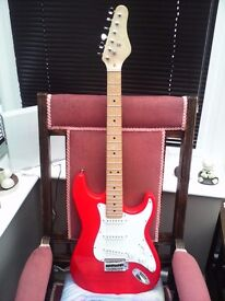 UNBRANDED STRATOCASTER STYLE ELECTRIC GUITAR IN AS NEW CONDITION