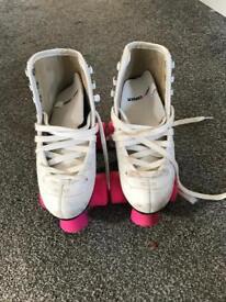 White Roller Skates - Size 1