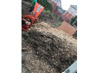 Garden wood chip