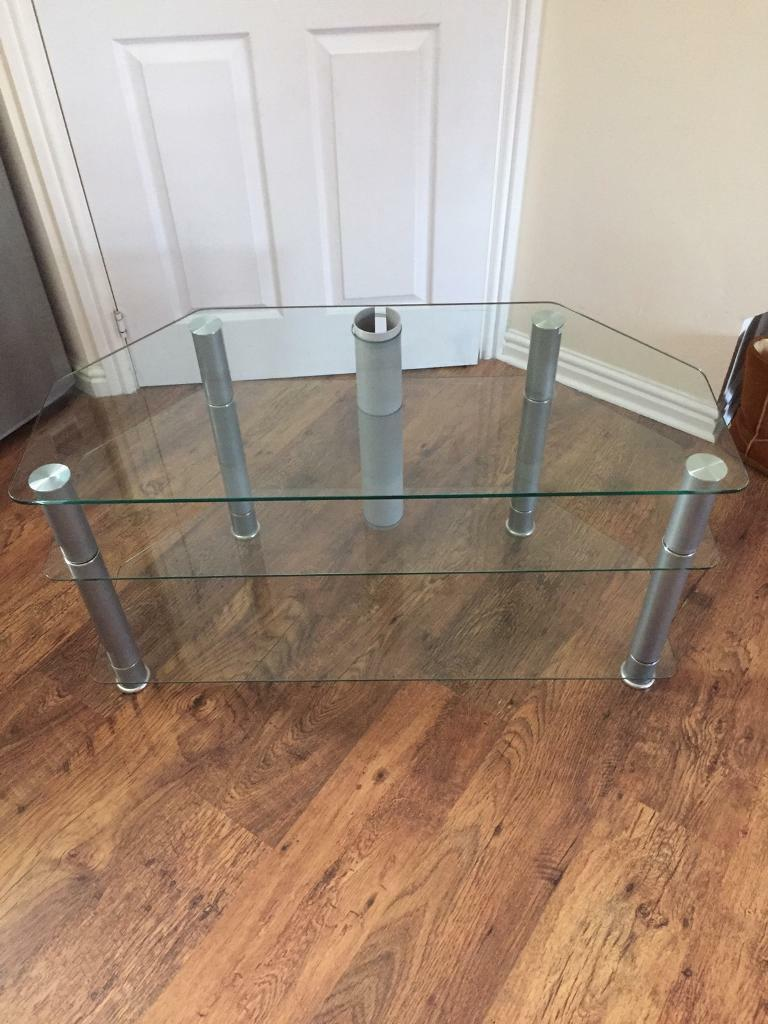 """Glass tv stand for up to 42"""" tv"""