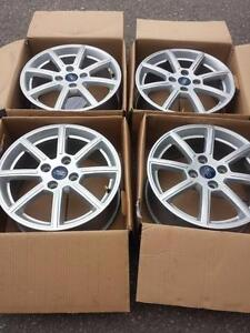 BRAND NEW TAKE OFF 2016 FORD FIESTA 16 INCH ALLOY WHEEL SET OF FOUR WITH SENSORS.