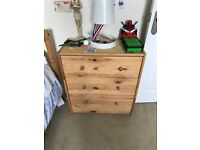 RAST IKEA Chest of 3 drowers Pine 62x70cms. SET OF TWO