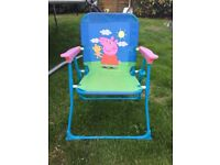 Peppa Pig child's garden fold out chair