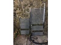 Two electric towel warmers