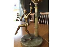 Art Deco Figurine Lamp - genuine