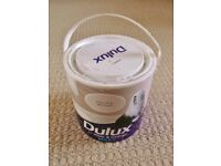 Dulux Mellow Mocha Light Brown Matt Paint for Walls & Ceilings Just over 1/2 of 2.5 Litre Tin Left