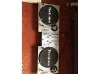 2 x Technics SL- 1200 MK 2 Turntables with Pioneer DJM-250 Mixer. Can be sold without Mixer