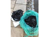 2 bags barbecue charcoal