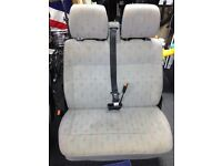 VW T4 Van seat and seat belt including metal base.