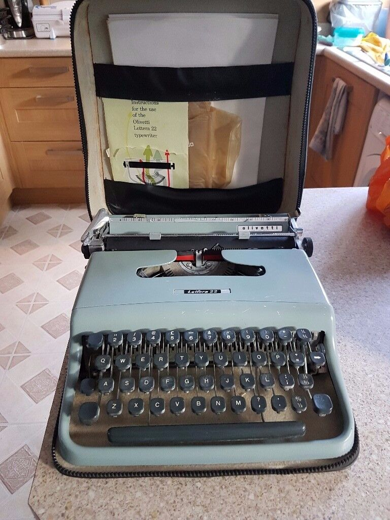 Olivetti Portable Typewriter In Case