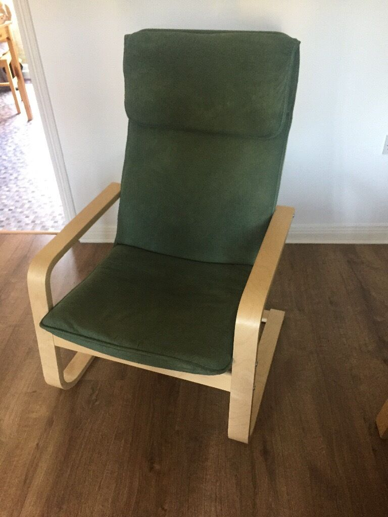 Ikea chair and footstool. Good condition. Pet free home. £20ono
