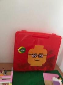 Large lot of Lego, table and storage boxes