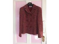 Women red theme jacket, UK size 8.