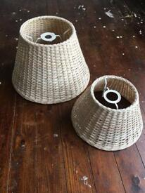 Wicker Lampshades