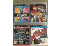 Just dance 2014, mega drive ultimate collection, Lego movie game and need for speed most wanted!