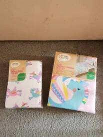 Brand New unicorn toddler bedding