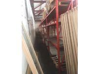 8 x bays Redirack 3 level shelving system 2530mm x 2030mm x 550 inc 18mm chipboard