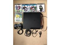 PS3 with one pad and 6 games