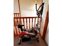 Gym master 2 in 1 elliptical exercise bike and cross trainer