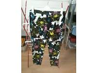 French Connection Flower Trousers.