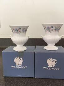 Wedgwood Angela Plain Edge Urn Shaped Vases