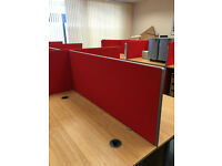 Red Desk Screens with fitments