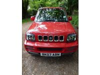 Suzuki Jimny 1.3 3 Door JLK 2007 66k Manual 2 Owners Red Very Good Condition