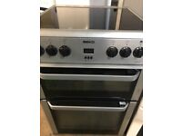 Beko 60cm wide silver edition new model fully working electric ceramic plate cooker for sale