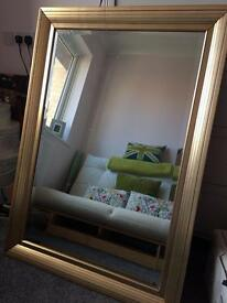 Mirror - gold - large - decorative features