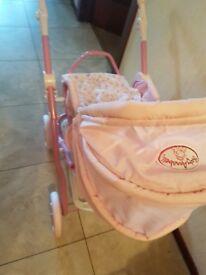 Baby Annabel Girls Pram & Accessories