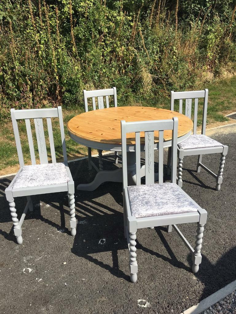 Antique twisted barley oak dining set launceston