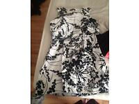 Black and white flowery dress